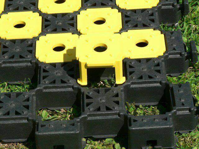 markering klein parkeerplaats grastegel