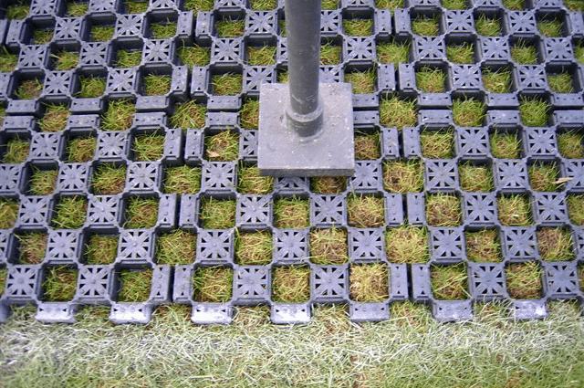 Groot draagvermogen bij grastegels